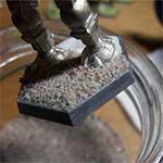 Sand und Leim vollenden das Battletech-Base